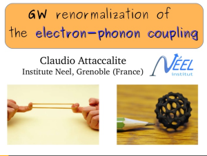 GW renormalization electron-phonon coupling